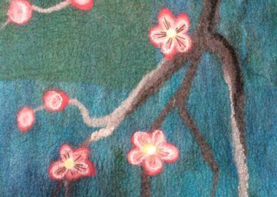 Wandpaneel bloesemtak detail 2