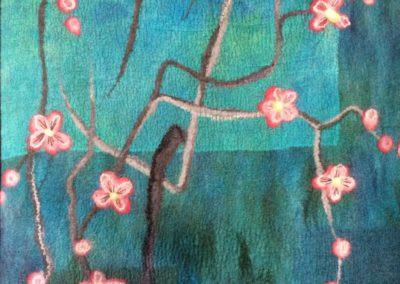 Wandpaneel bloesemtak detail 1